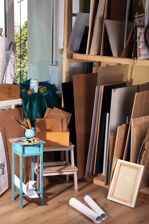 painting storage rack