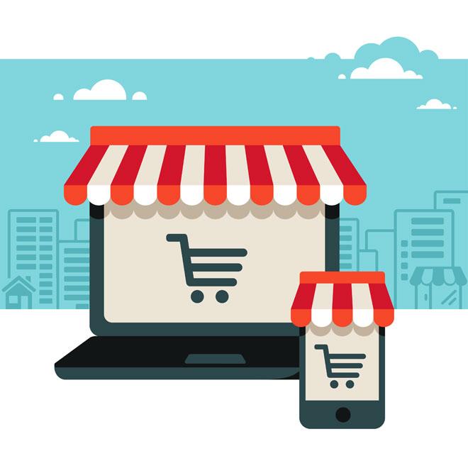 online art store concept
