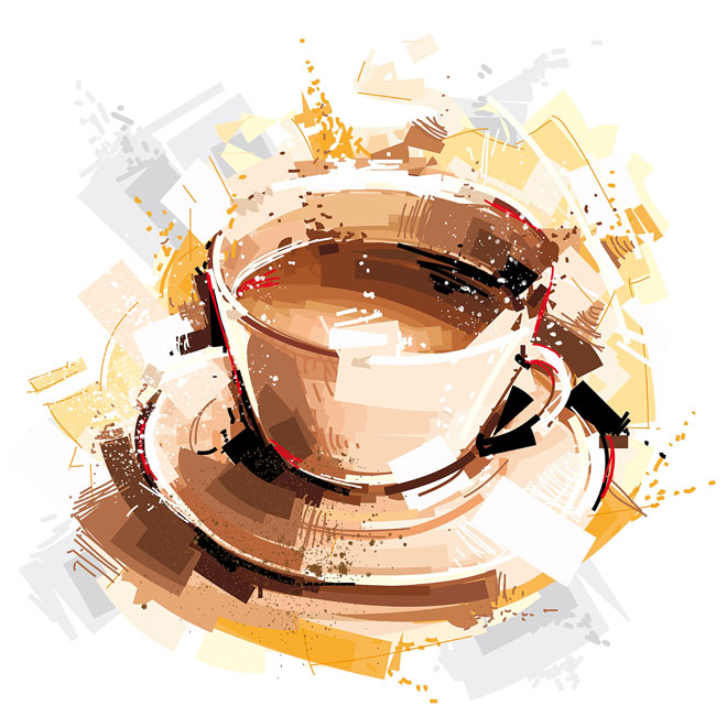 art show coffee break painting