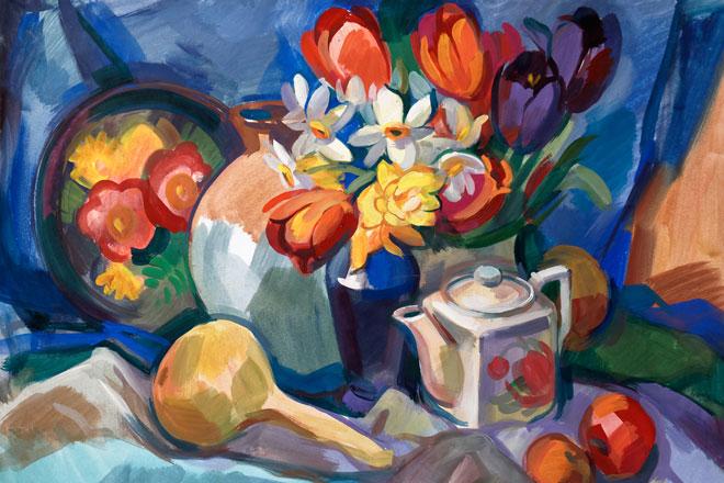watercolor gouache painting