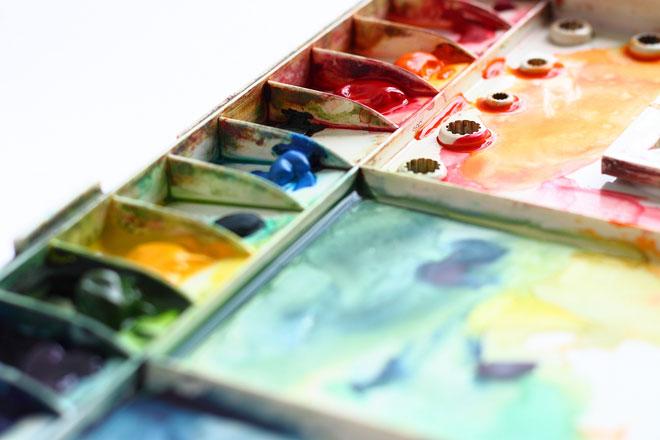 watercolor pallette